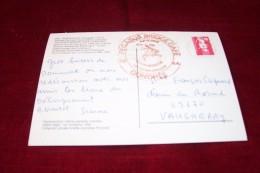 TIMBRE OBLITERATION FLAMME° BENOUVILLE  PREMIER PONT DE FRANCE LIBERE AINSI QUE PEGASUS BRIDGE CAFE GONDREE - Marcophilie (Lettres)