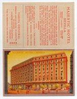 Majestic Hotel Sevilla Publicitaria Tarjeta Postal Postcard Ca 1920 Original Postcard Cpa Ak (W4_186) - Hoteles & Restaurantes