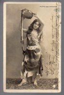 Erotic Woman Young Girl Dancer Madia Naked Feet Arablike Theatre Mathurins Ca 1900 Original Postcard Cpa Ak (W4_193) - Vrouwen