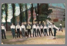 Germany Traditional Game Serie 427 Throughing A Block  Gymn  Ca 1900 Original Postcard Cpa Ak (W4_199) - Regionale Spelen