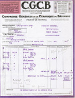 1932 C.G.C.B. COMPAGNIE GENERALE DE LA CERAMIQUE DU BATIMENT SUCCURSALE DE PA-LE-MONIALRAY - France