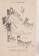 (02) La Peche  Aux Maris ; Chansonnette De Genre ; NOEMI NOBLET , Paroles : DUPRE DE LA ROUSSIERE; Musique : GRUBER - Partitions Musicales Anciennes