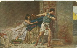 Joseph And Potiphar ´s Wife Early 1900s Unused Postcard [P7172] - Jewish