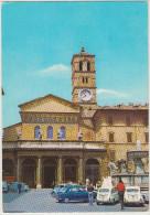 Roma: INNOCENTI J4, VW MAGGIOLINO 1200, 2x FIAT 600, 500C FOURGON - Chiesa S. Maria In Trastevere - Italia/Italy - Passenger Cars