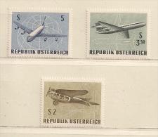 AUTRICHE  (D16L - 1114 )  1968   N° YVERT ET TELLIER  N° 63/65   N** - Luftpost