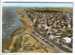 CPSM SAINT AUBIN (Calvados) - Vue Générale Aérienne Le Golf Miniature Et La Plage - Saint Aubin