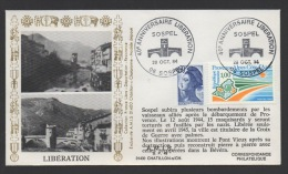 DF / MILITARIA / GUERRE 1939-45 / LIBERATION DE SOSPE /  OBL 40e ANNIVERSAIRE LIBERATION  28 OCT 1984 , 06 SOSPEL - Militaria