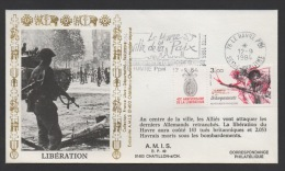 DF / MILITARIA / GUERRE 1939-45 / OBL ET FLAMME 40e ANNIVERSAIRE LIBERATION  LE HAVRE 12 -9 1984 SEINE MARITIME - Militaria