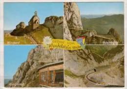Wendelstein , Mehrbildkarte , Kircherl - Gipfelweg - Berghotel - Zahnradbahn - Miesbach