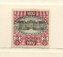 AUTRICHE  (D16L - 1169 )  1910   N° YVERT ET TELLIER  N° 133   N* - Unused Stamps