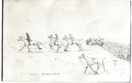 Illustration  Illustrateur  Militaria  EOR  Elève Officier à Cheval Verrie Les EOR En Liberté Saut D´obstacle  /16257 - Humoristiques