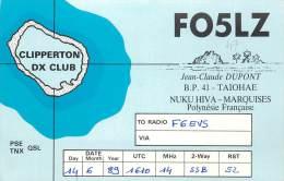 CARTE QSL : RADIO AMATEUR . TAIOHAE. NUKU HIVA . MARQUISES . 1989. - Radio Amateur