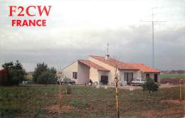 CARTE QSL : RADIO AMATEUR . NERCILLAC . FRANCE . 1989 . - Radio Amateur