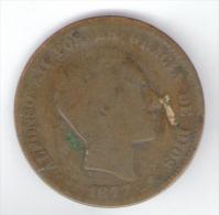 SPAGNA 10 CENTIMOS 1877 - [ 1] …-1931 : Regno