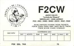 CARTE QSL : RADIO AMATEUR . JARNAC . FRANCE . 1990 . - Radio Amateur