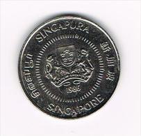 ° SINGAPORE  50  CENTS 1986 - Singapour