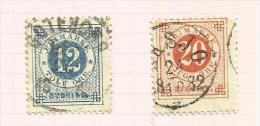 Suède N°20(A) Et 21(A) Côte 2.50 Euros - Oblitérés