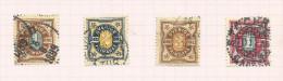 Suède N°51 à 54 Côte 2.75 Euros - Oblitérés