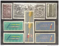 1960 1961 Polonia Polen 3 Serie Con 9v. MNH**: 1039/41, 1117/19 Dentellata + Non Dentellata - 1944-.... República