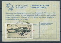 ITALIA / ITALIE  Reply Coupon Reponse Antwortschein IAS IRC La23A  600 LIRE + Stamp 200 LIRE O PADOVA 5.3.83 - Entiers Postaux