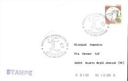Busta Viaggiata Con Annullo Speciale 28 Filatelica Castel San Pietro Terme Raffigurante Azione Di Gioco - Pallamano