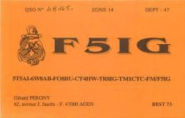 CARTE QSL : RADIO AMATEUR . FRANCE . AGEN . 1993 . - Radio Amateur
