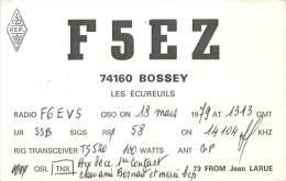 CARTE QSL : RADIO AMATEUR . FRANCE . BOSSEY . 1979 . - Radio Amateur