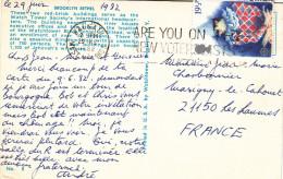 ENGLAND 19 1/2 P CLOWN Sur CARTE POSTALE NEW YORK - 1952-.... (Elizabeth II)
