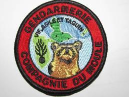 PATCH GENDARMERIE GUADELOUPE : COMPAGNIE DU MOULE - Police & Gendarmerie