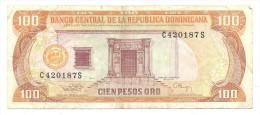 BILLETE REPUBLICA DOMINICANA 100 PESOS ORO - Dominicana