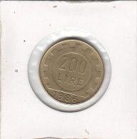 200 LIRE 1986 R - 1946-… : Republic