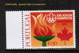 PORTUGAL    Scott  # 1291-3** VF MINT NH - Unused Stamps