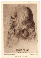 ZA345  RITRATTO DI LEONARDO - Paintings