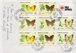 New Caledonia Complete Sets On Cover - Butterflies