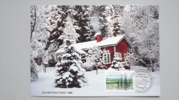 Finnland 1037 Yt 1001 Sc 717 Maximumkarte MK/CM AK, SST ESSEN´88, Urho-Kekkonen-Nationalpar K Mit Saariselkä-Gebirge - Finland