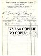 """Tambours, Lances Balles, Raquettes Et Jouets Gérardmer - Paris - Dieue """"SIMONIN - CUNY"""" - France"""