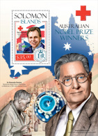 slm14207b Solomon Is. 2014 Nobel prize winners Red Cross Medicine s/s Alexander Fleming