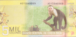 Costa Rica 5000 Colones  P276 UNC MONKEY POLYMER BANKNOTE - Costa Rica