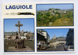 LAGUIOLE--Multivues (couteau,voitures,calvaire, Cpm éd Cély - Laguiole