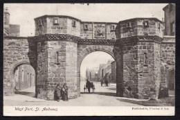 1906 West Port St Andrews Fife Posted Card As Scanned - Fife