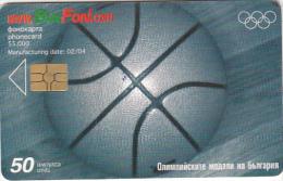 BULGARIA - Athens 2004 Olympics/Basketball, Bulfon Telecard 50 Units, Tirage 55000, 02/04, Used - Juegos Olímpicos