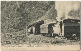 Ferrocarril Transandino Chile Refugio Contra La Nieve  Train Locomotora Edit J. Allan 65 Valparaiso - Chili