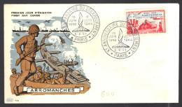 FRANCE 1954 N° 983 Obl. S/Lettre FDC Paris - 1950-1959