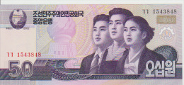 Korea North 50 Won (2009) Pick 60 UNC - Korea, North