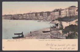 Messina. Palazzata Vista Dal Giardino A Mare - Messina
