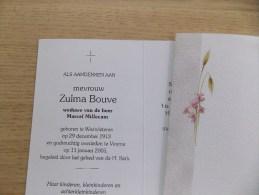 Doodsprentje Zulma Boeve Westvleteren 29/12/1913 Veurne 11/1/2005 ( Marcel Millecam ) - Religione & Esoterismo