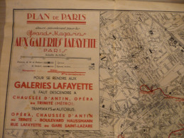 75 - CARTE DE PARIS - Galeries Lafayette - Cartes Géographiques