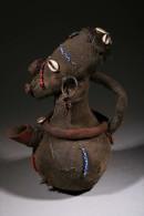 Art Africain Gourde Mangbetu - Art Africain