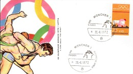 MUNCHEN OLIMPIC GAME  1972 LOTTA ANNULLO SPECIALE - Lotta