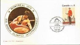 MONTREAL OLIMPIC GAME  1976 LOTTA ANNULLO SPECIALE - Lotta
